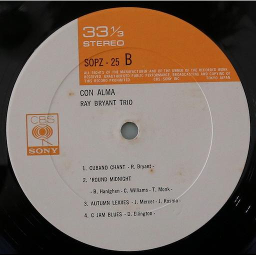 Ray Bryant Trio – Con Alma (no OBI)