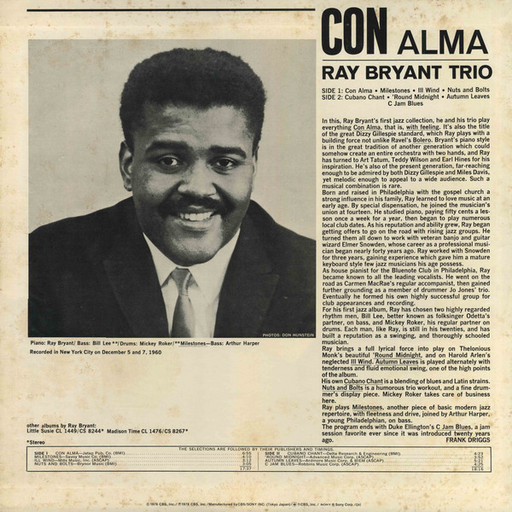 Ray Bryant Trio – Con Alma (OBI)